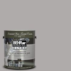 BEHR Premium Plus Ultra 1-gal. #PPU18-14 Cathedral Gray Semi-Gloss Enamel Interior Paint-375401 - The Home Depot