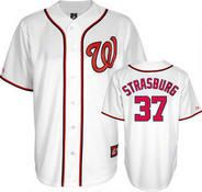Stephen Strasburg Jersey: Youth Majestic Home White Replica #37 Washington Nationals Jersey at Modell's