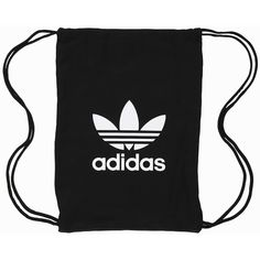 Adidas Originals Gymsack Tricot ($30) ❤ liked on Polyvore featuring bags, handbags, backpack, accessories, black, womens-fashion, drawstring sports backpack, draw string backpack, day pack backpack and print backpacks