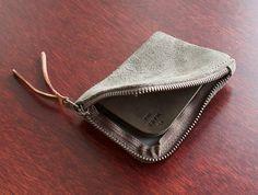 Makr Moss Suede Zip Wallet - OEN