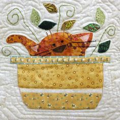 close up, Furry Sweetness by Judy Price, quilted by Lynette Harlan.  Pattern by Holly Mabutas. Photo / Judge's Choice by Kay MacKenzie.