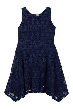 Lace Sharkbite Dress (Big Girls)
