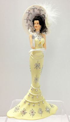 Glittering Perfection Swarovski Crystals Thomas Kinkade Lady Figurine Bradford