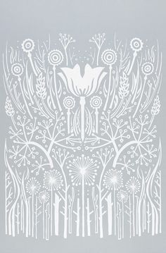 Lovely Clusters - Beautiful Shops: Hedgerow - decorative screen print