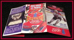 1996-97 MONTREAL CANADIANS MOLSON EXPORT HOCKEY POCKET SCHEDULE FREE SHIPPING #Pocket #Schedule
