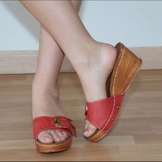 Red Coral Wedges By Sexy Step