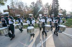 Drum line dancing