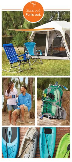 Explore the great outdoors with long-lasting gear for camping, paddling and splashing.