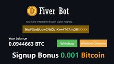 Fiver Bot - Invest like Rich Bitcoin Bot, Bitcoin Live, Bitcoin Wallet, Make Money Online, How To Make Money, Bitcoin Generator, Free Bitcoin Mining, Investing, Places