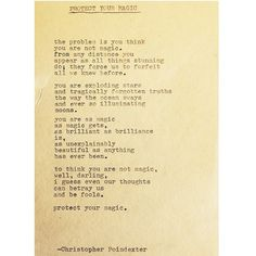 Protect Your Magic by Christopher Poindexter