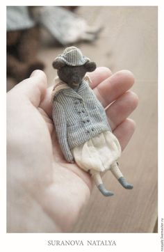 Светлячокъ. Творческие идеи. Вдохновение. Handmade Stuffed Animals, Fabric Animals, Felt Animals, Tiny Dolls, Soft Dolls, Fabric Toys, Needle Felted Animals, Antique Toys, Old Toys