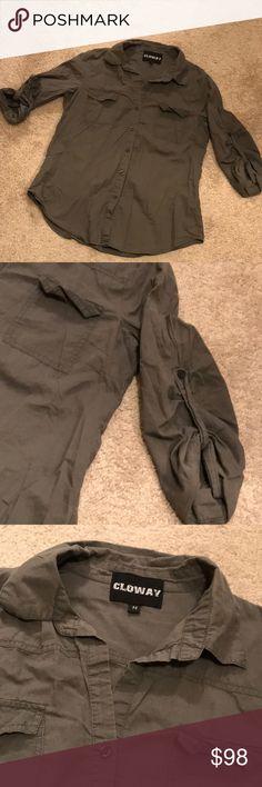 LOWAY.Button Down Shirt. Size M. 100% cotton LOWAY.Button Down Shirt. Size M. 100% cotton CLOWAY Tops Button Down Shirts