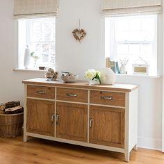 Esszimmer Wohnideen Möbel Dekoration Decoration Living Idea Interiors home dining room - Creme Esszimmer mit Sideboard