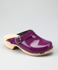 Take a look at the Cape Clogs Purple Patent Leather Clog - Women on zulily today. $36. Steal these patent leather beauties.