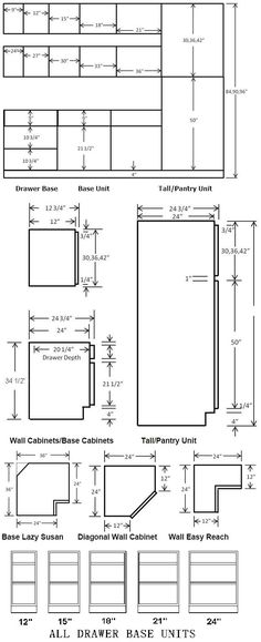 Kitchen cabinets dimensions and standard kitchen cabinets sizes ...
