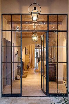 Looking for new trending french door ideas? Find 100 pictures of the very best french door ideas from top designers. Get your inspirations today! Steel Frame Doors, Steel Frame House, Steel Wall, Steel Windows, Black Windows, French Windows, Iron Windows, Modern Windows, Black Doors