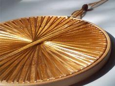 Autumn Wedding Decoration - Gold Handmade Light Catcher