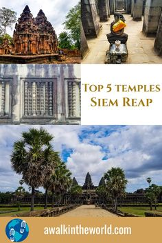 You might or might not have heard the name of the Siem Reap. However, if you make a list of 50 things to see before you die, the ruins of Angkor Wat must be included in your list which can be visited from Siem Reap. This Cambodian city in Southeast Asia is a marvellous place to explore some of the most fascinating ruins in human civilisations. This is the top 5 temples in Siem Reap, Cambodia. Beautiful Places To Travel, Best Places To Travel, Cool Places To Visit, Cambodia Beaches, Cambodia Travel, Holiday Destinations, Amazing Destinations, Travel Destinations, Travel Ideas