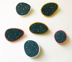 Starry night brooch