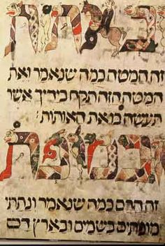 Haggadah with zoomorphic lettering. Hamilton Siddur, Spain or southern France, 13th century