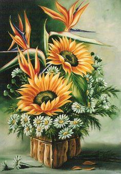 Arlete Testoni: Tela: Flores