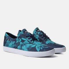 Huf Sutter Shoes - Navy Floral
