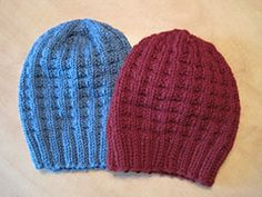 Ravelry: Bulky Waffle Hat pattern by Linda Suda Needle US10 - 6.0 mm, 110 - 120 yards, child, medium adult, large adult