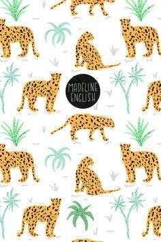 Leopard print - By Madeline English Painting Patterns, Print Patterns, Jungle Illustration, Pattern Bank, Big Cats Art, Jungle Pattern, Leopard Pattern, Kids Prints, Stuffed Animal Patterns