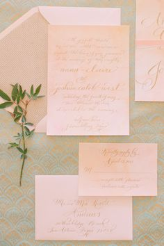 Pink watercolor. The Left Handed Calligrapher.  Read more - http://www.stylemepretty.com/2013/06/24/hill-country-watercolor-inspired-photo-shoot-from-mayhar-design-caroline-joy-photography-sprout/