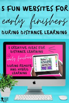 What do you do when your students have finished their distance learning tasks? Remote learning can be challenging as you try to ensure all your students are learning, progressing and occupied. It can be difficult to find suitable and fun virtual learning activities to issue as extension work for your early finishers. Keep reading to learn 5 creative ideas for your early finishers during a distance, hybrid or blended learning classroom! Free Teaching Resources, School Resources, Learning Activities, Teacher Resources, Teaching Ideas, Teacher Blogs, New Teachers, School Direct, High School Classroom