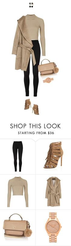 """Going a bit too neutral !"" by azzra ❤ liked on Polyvore featuring River Island, Topshop, Chicnova Fashion, Michael Kors, Kate Spade, women's clothing, women's fashion, women, female and woman"