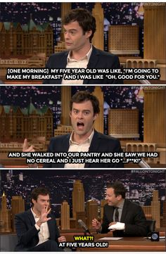 The Tonight Show Starring Jimmy Fallon Page Liked · 16 mins ·     Bill Hader's daughter likes dressing like a princess and swearing like a sailor.   Watch: https://www.youtube.com/watch?v=asJ7Rw7xgIc