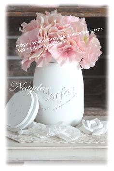 bocal le parfait peint par Natydeco bientôt en vente sur mon site www.natydecocorse.com