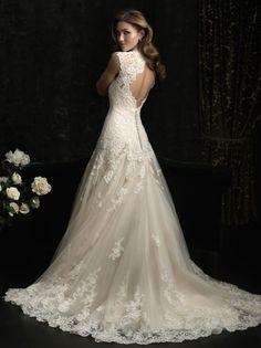 La parte de atrás de tu vestido de novia