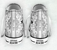 Custom #Converse #Idea for #lesbianwedding for me <3 Just a little idea for my feet for our wedding :) lesbian wedding