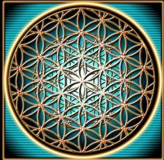 "Fractalized flower of life - Has been known to mankind for at least 2,500 years. It was 1st ""discovered"" in anchient Mesapotamia at King Ashurbanipal's palace (645 BC) Also on the Temple of Osiris in Abyday, Egypt dating back to 535 BC. and found at ancient sites in Iraq (Ancient Assyria), Egypt, India, Romania, China, Japan, Bulgaria, Turkey, Spain, Austria, Italy, Morocco, Lebanon, Peru, Mexico,  and London"