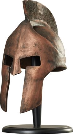 World Menagerie Greek Spartan Helmet Sculpture