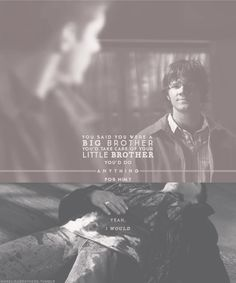 Supernatural #brother love #love #sad part