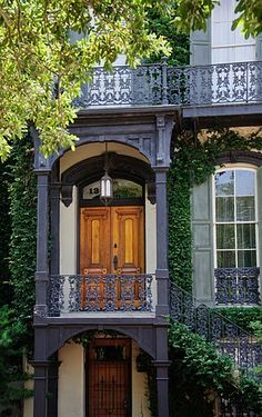 Just one of the beautiful homes in historic Savannah! Just love the history and beauty here!