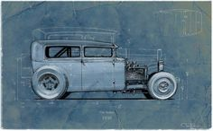 Drawings about evolution of Hot Rod