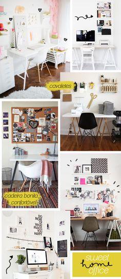 Inspirações para um home office lindo (e barato)