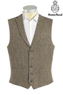 Buy Harris Tweed Taupe Check Slim Fit Wool Jacket from the Next UK online shop Men's Coats And Jackets, Winter Jackets, Men's Waistcoat, Wedding Waistcoats, Mens Winter Coat, Suit Vest, Harris Tweed, Weekend Style
