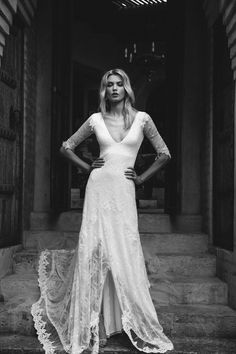 Our Francis dress, the ultimate in bohemian luxury wedding dresses, oozing romance and sophistication. Perfect for bride wanting to make a statement!
