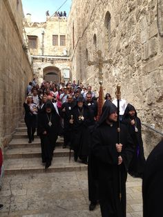 THe Procession to Good Friday ceremony, Church of the Holy Sepulcher, jERUSALEM