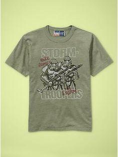 Star Wars Storm Trooper tee  $22.95  www.gap.com  www.junkfoodclothing.com