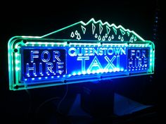 Laser Engraved Acrylic Taxi Toplights Taxi, Laser Engraving, Neon Signs, Led, Lighting, Light Fixtures, Lights, Lightning