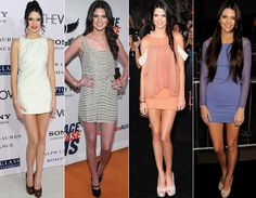 Kendall Jenner tem 16 anos e ama um look glam total. Se você gosta de um vestido curtinho para arrasar muito na balada, vai amar o estilo dela! Ela não dispensa um bom sapato de salto, seja ele escarpim, peep toe ou Mary Jane!