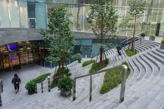 Landscape Stairs, Commercial Landscaping, Public Space Design, Outdoor Steps, Exterior Stairs, Parking Design, Space Architecture, Terrace Garden, Urban Planning