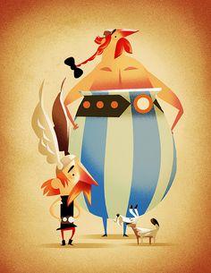 Asterix  Obélix by Alfredo Cáceres