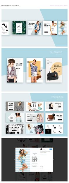 Fashion Social Media Pack gives your business a style boost with its chic and elegant look. The package includes 20 templates designed natively for Instagram, Twitter, Facebook & Pinterest . Each of them is easy to edit and customize, simply drop your con…